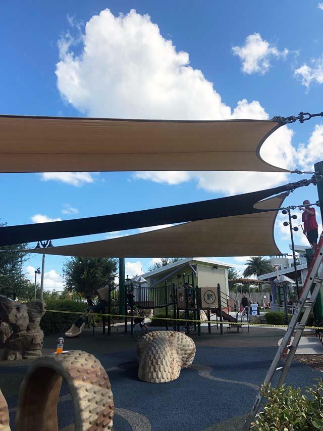 Sun Shades at Center Lake Park
