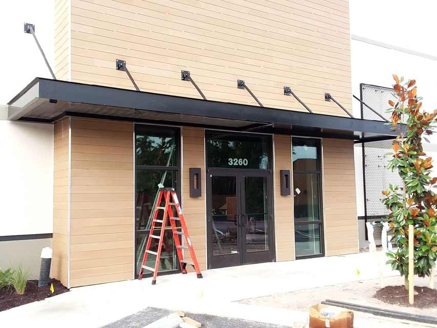 Retail awnings and signs