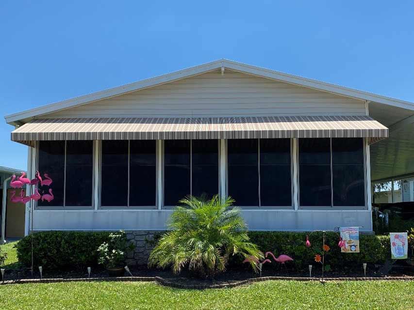 Florida room sun shade and awning