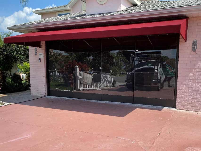 Residential lean-to awnings