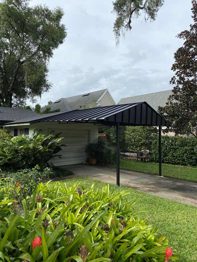 Residential carport and driveway covers
