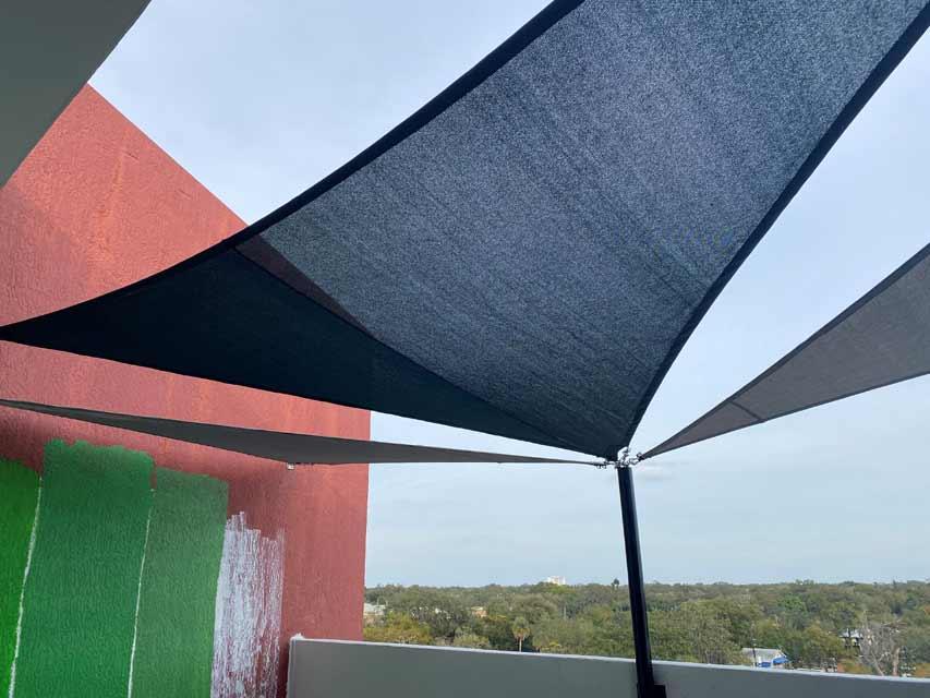 Rooftop Shade Sail Design