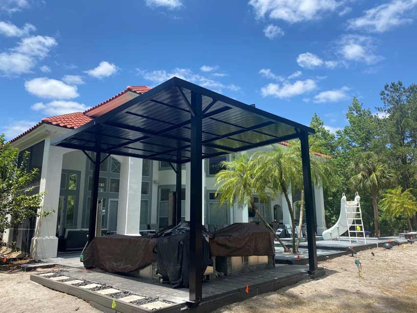 Outdoor Kitchen and Grill Roof